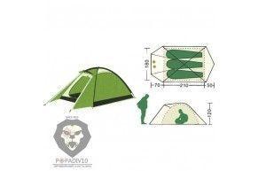 Палатка туристическая Remington 3-местная (210+70+50)*180*120, шт