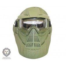Маска разборная с прозрачными очками Green WS21078G