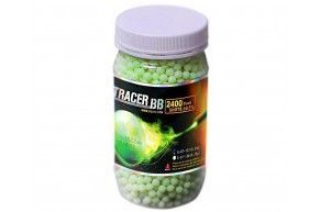 Шарики для страйкбола G&G 0,20 трассерные (2400 шт., зелёные, 1кг. пакет)