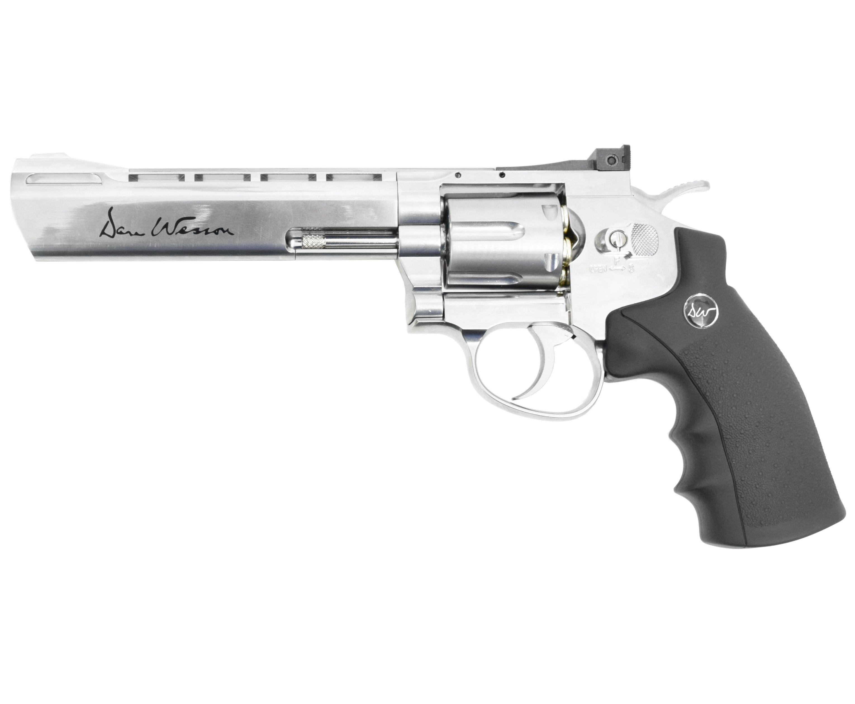 Пневматический револьвер ASG Dan Wesson 6 Silver