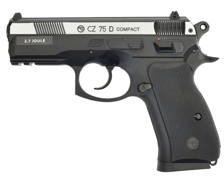 Пневматический пистолет ASG CZ 75D Compact blowback (двухцветный)