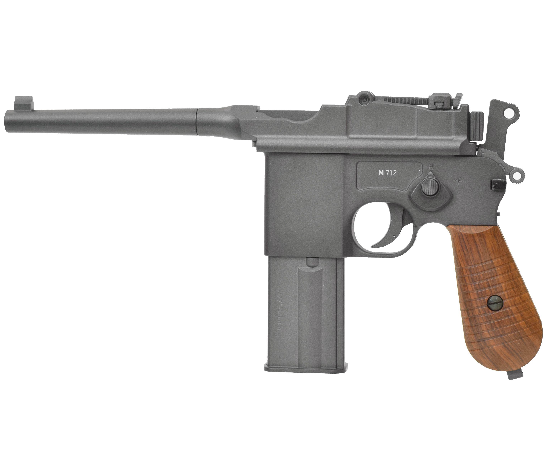 Пневматический пистолет Gletcher M712S BlowBack (Маузер)