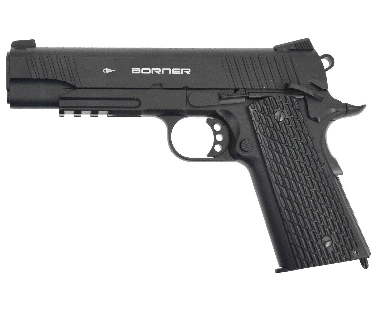 Пневматический пистолет Borner KMB77 (blowback, Кольт 1911)