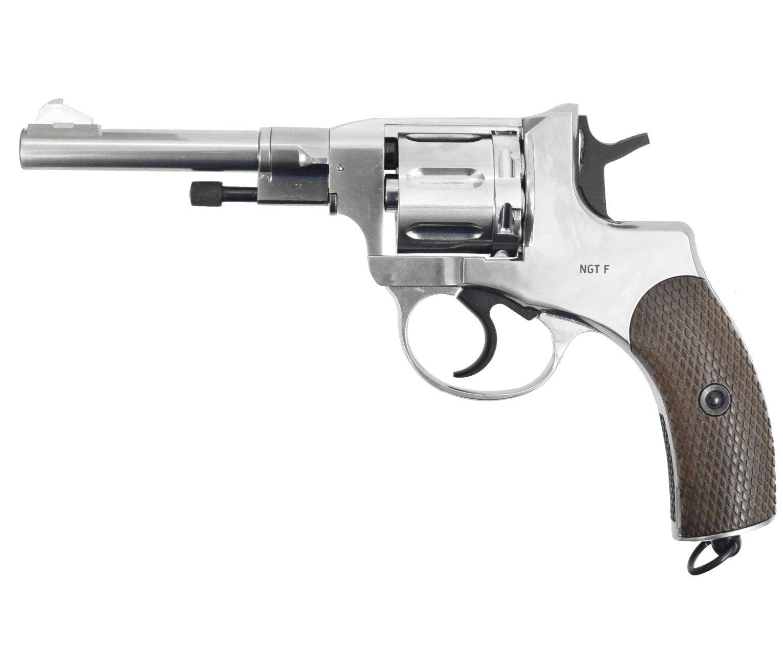 Пневматический револьвер Gletcher NGT Silver (Наган)