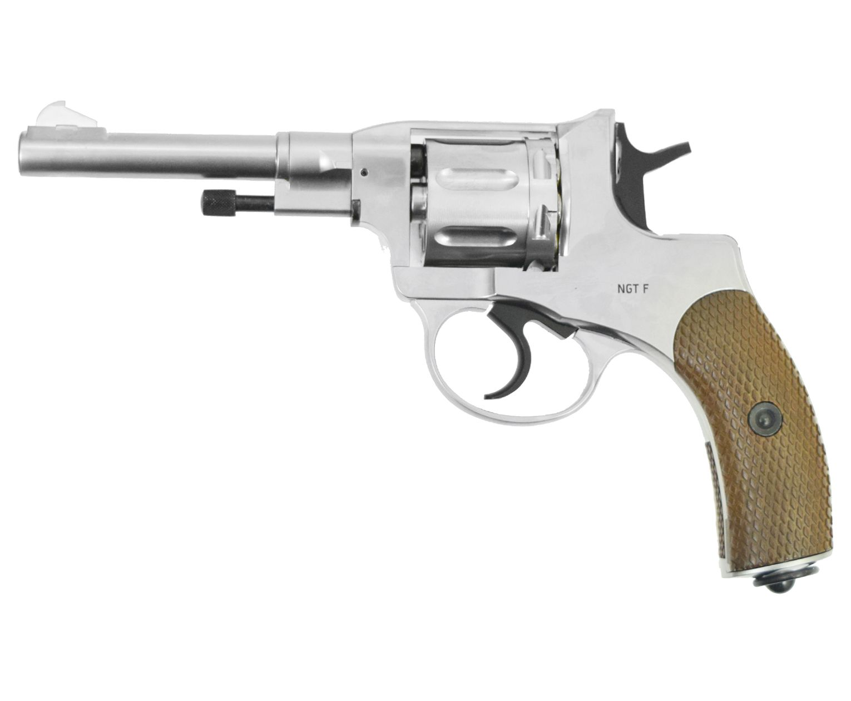 Пневматический пистолет Gletcher NGT R Silver (наган, пулевой)