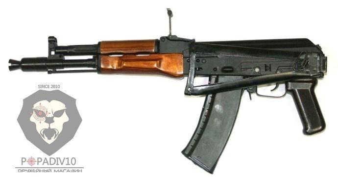 ММГ автомата АК-105 (макет Калашников, складной приклад металлическая рамка, деревянные цевье и накладка, бакелитовая рукоять)