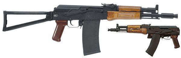ММГ АК-105 складной приклад металлическая рамка, деревянные цевье и накладка,бакелитовая рукоять с боковой прицельной планкой