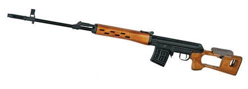 ММГ СВД (Макет снайперской винтовки Драгунова, стационарный деревянный приклад, нижнее и верхнее деревянное цевьё, кожаная щёчка)