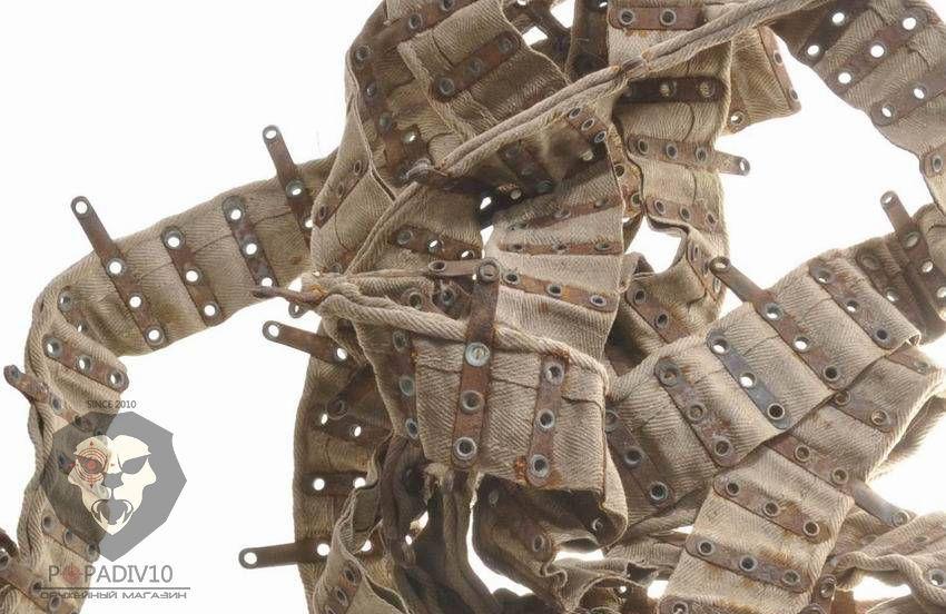Лента к пулемету «Максим», к ПК метал. раритет на 250 патронов