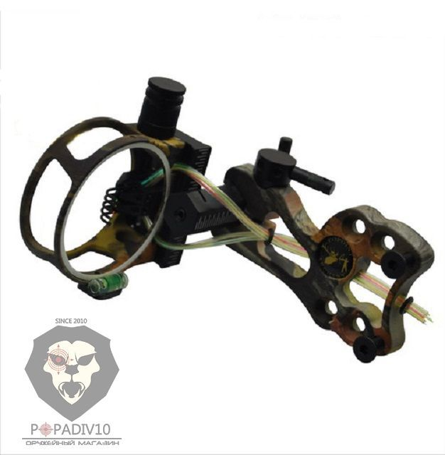 Прицел Topoint (5pin-0.19) оптоволконо, подсветка, безключевая настройка (камуфляж)