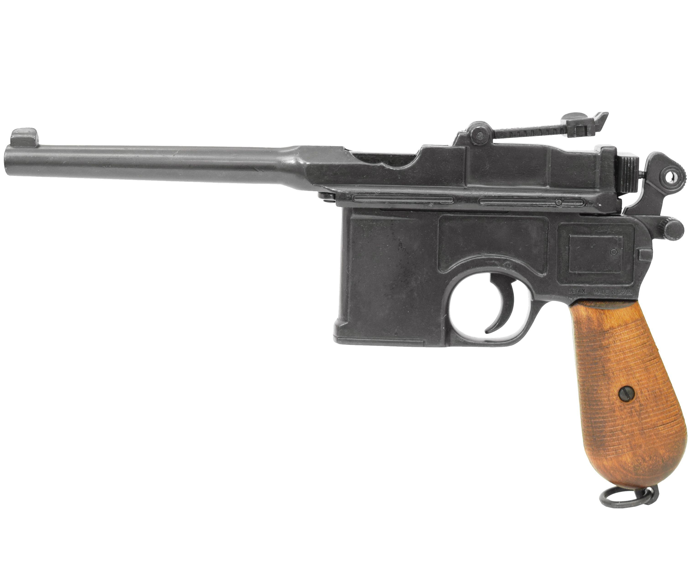 Макет пистолета Denix D7/M-1024 Mauser C 96 (ММГ, деревянная рукоять)