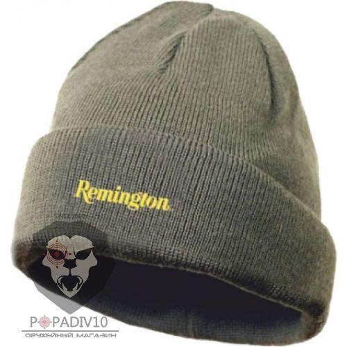 Шапка Remington шерсть 100%, зеленая, шт