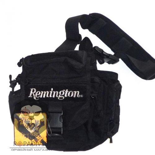 Сумка Remington плечевая с боковыми карманами (черный), 10л, шт
