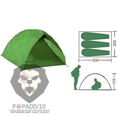 Палатка туристическая Remington 3-местная (200*200*115), шт
