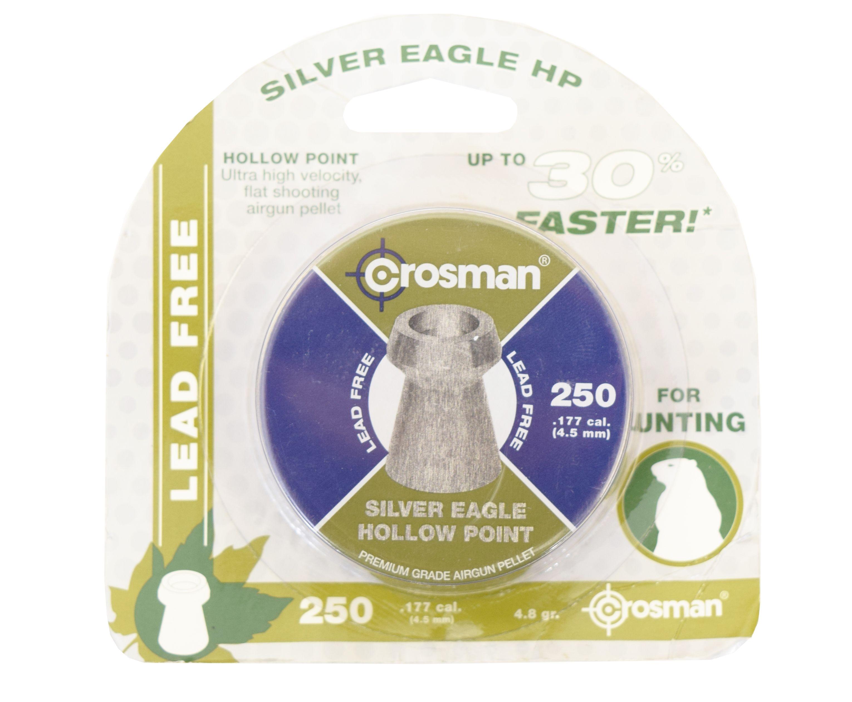 Пули пневматические Crosman Silver Eagle HP 4.5 мм (250 шт, 0.26 г)