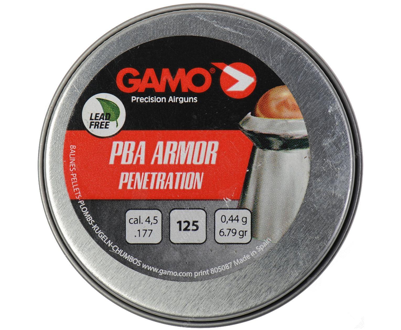 Пули пневматические Gamo PBA Armor 4.5 мм (125 шт, 0.44 г)