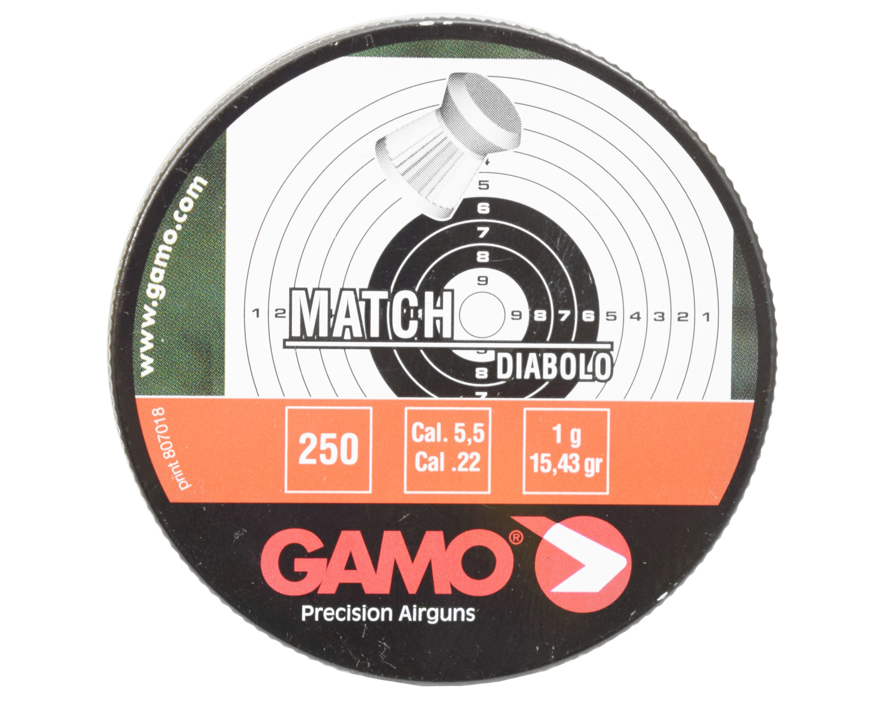 Пули пневматические Gamo Match 5.5 мм (250 шт, 0.9 г)