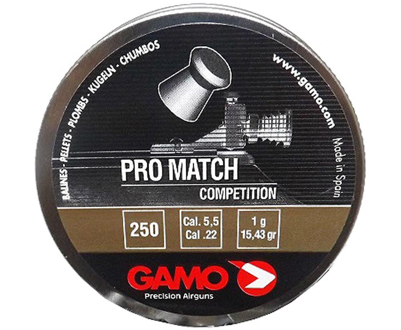 Пули пневматические Gamo Pro-Match 5.5 мм (250 шт, 1 г)