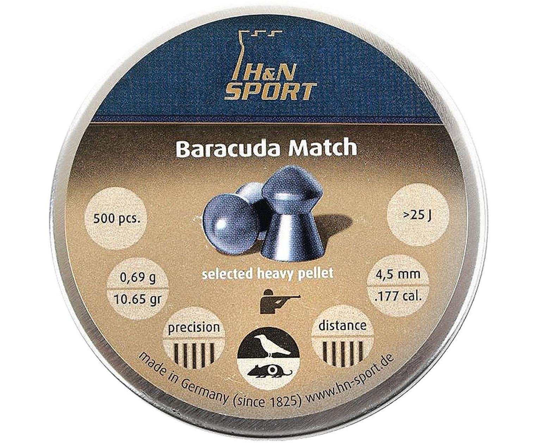 Пули пневматические H&N Baracuda Match 4.5 мм (500 шт, 0.69 г)