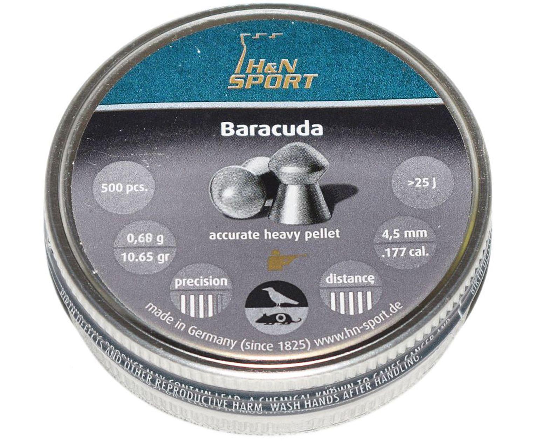 Пули пневматические H&N Baracuda 4.5 мм (500 шт, 0.68 г)