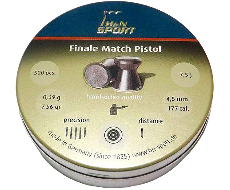 Пули пневматические H&N Finale Match Pistol 4.5 мм (500 шт, 0.49 г)