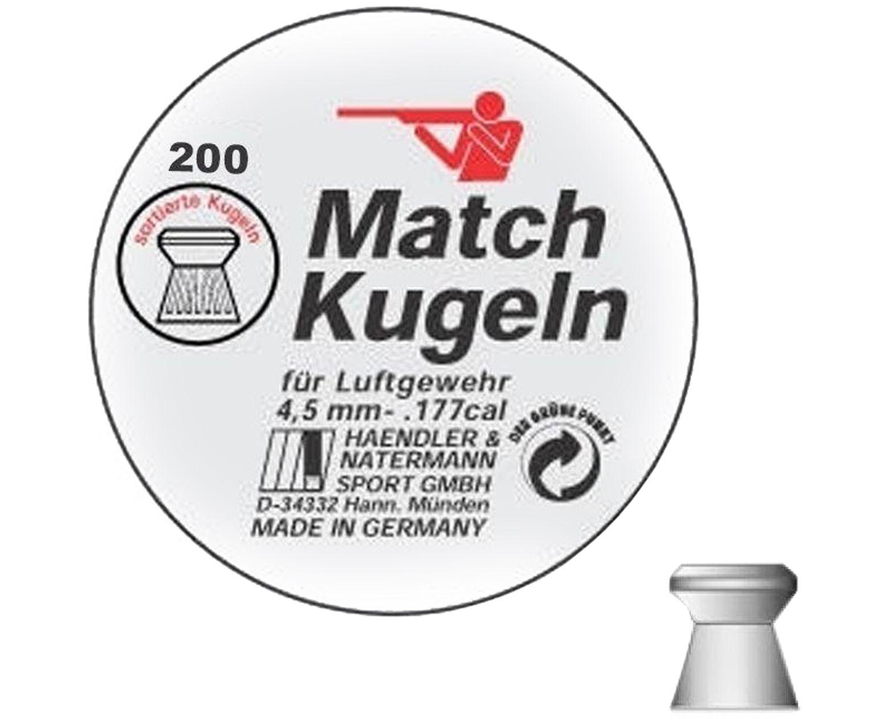 Пули пневматические H&N Match Kugeln 4.5 мм (200 шт, 0.49 г)