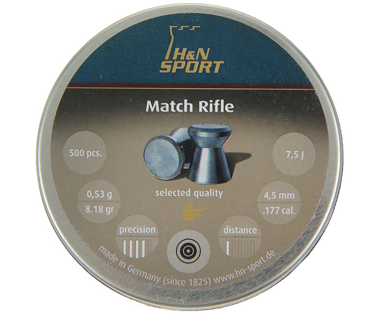 Пули пневматические H&N Match Rifle 4.5 мм (500 шт, 0.53 г)