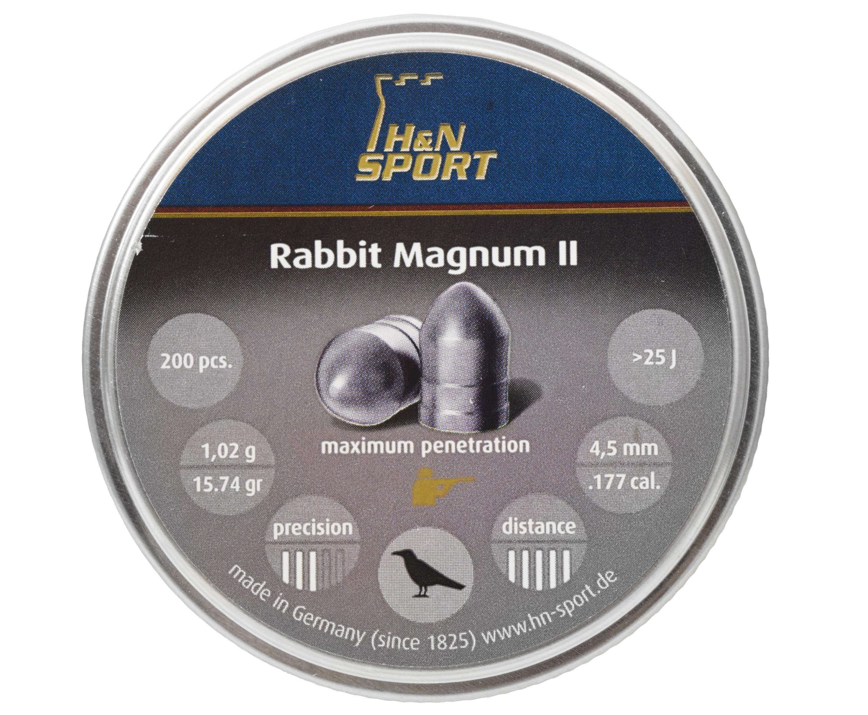 Пули пневматические H&N Rabbit Magnum II 4.5 мм (200 шт, 1.02 г)