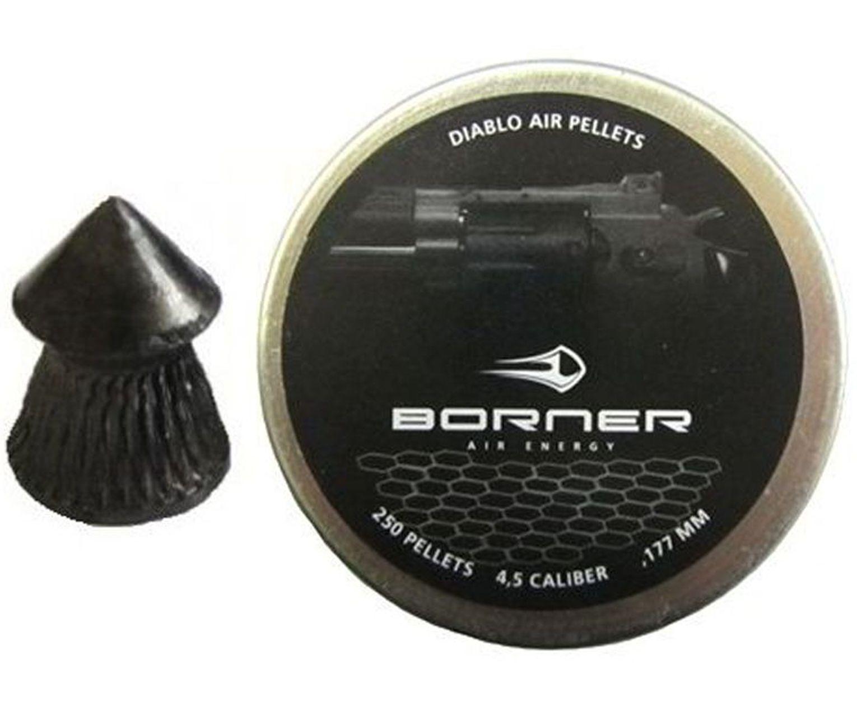 Пули пневматические Borner Diabolo 4.5 мм (250 шт, 0.49 г)
