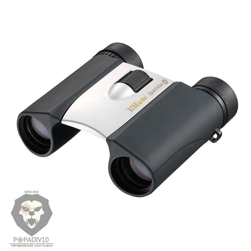 Бинокль Nikon Sportstar EX 10x25 серебристый, шт