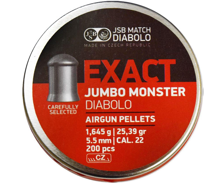 Пули пневматические JSB Exact Jumbo Monster 5.5 мм (200 шт, 1.65 г)