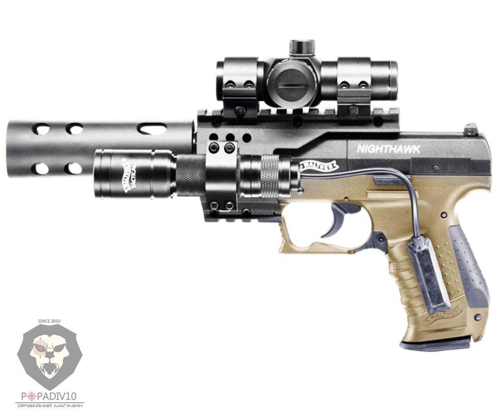 Пневматический пистолет Umarex Walther Night Hawk Green