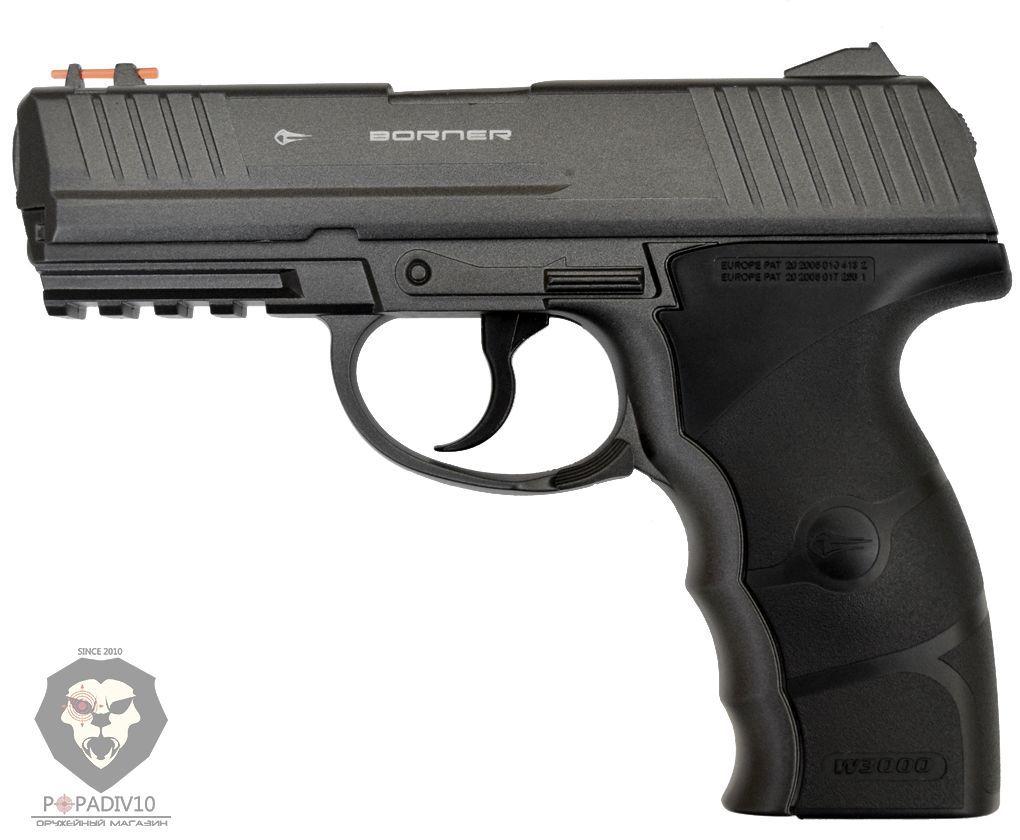 Пневматический пистолет Borner W3000 M (Heckler Koch P30)
