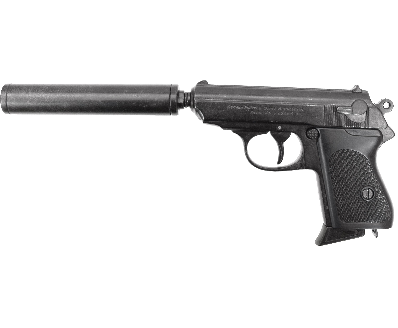 Макет пистолета Denix D7/1311 Walther PPK (ММГ, с глушителем)
