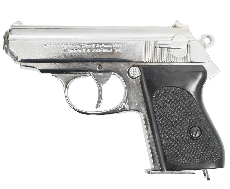 Макет пистолета Denix D7/1277NQ Walter PPK (ММГ, никель)