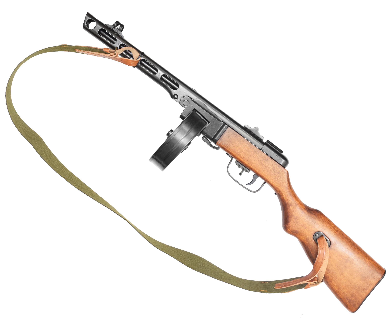 Макет пистолета-пулемета Шпагина Denix D7/9301 ППШ (ММГ, ремень)