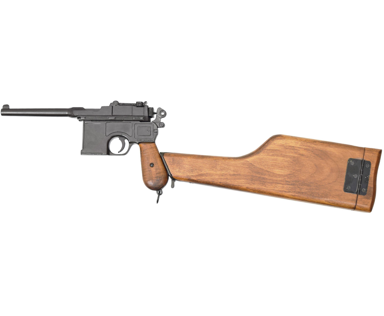 Макет пистолета Denix D7/1025 Mauser C 96 (ММГ, приклад)