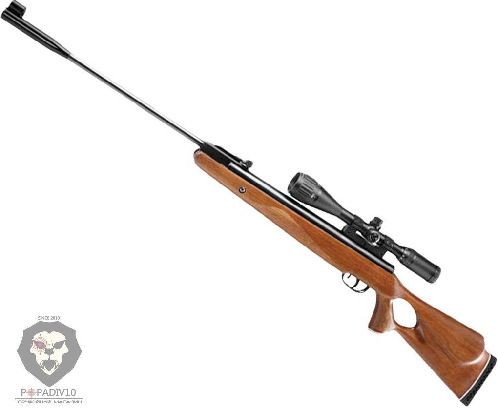 Пневматическая винтовка Crosman B1500BTM (прицел 4-16х40, дерево)