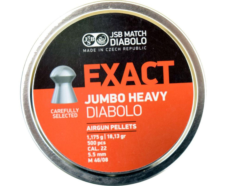 Пули пневматические JSB Exact Jumbo Heavy 5.5 мм (500 шт, 1.18 г)