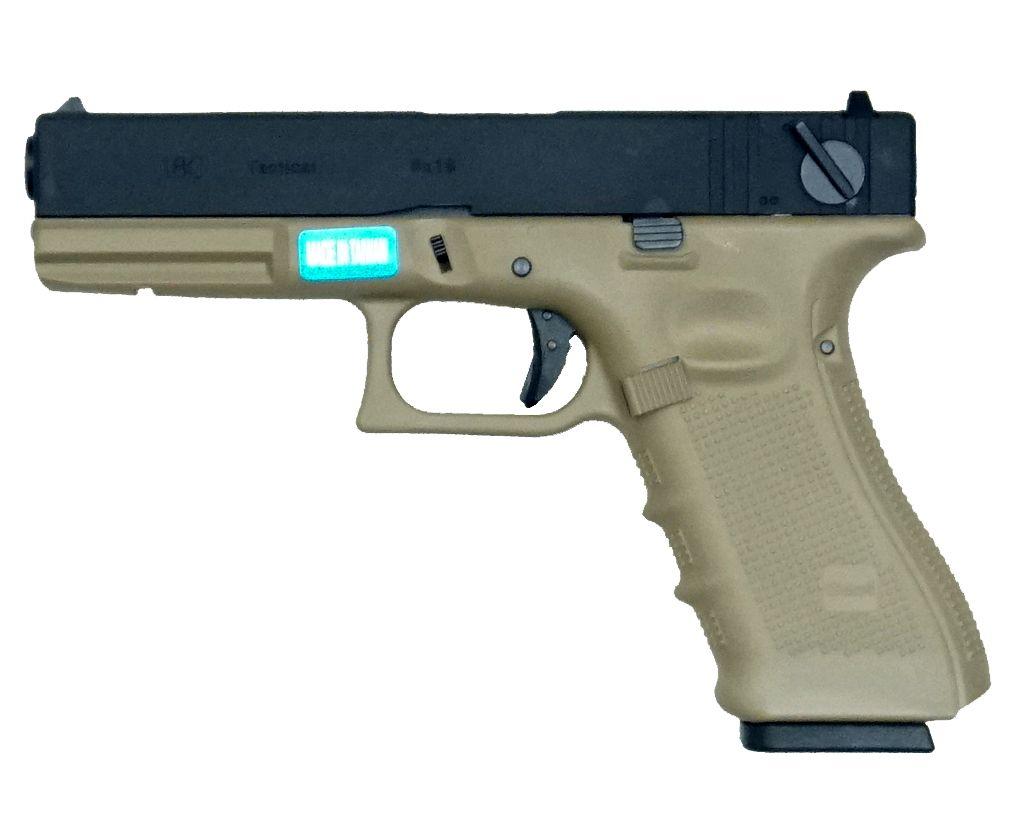 Страйкбольный пистолет WE Glock 18 gen4 Tan (Green gas)