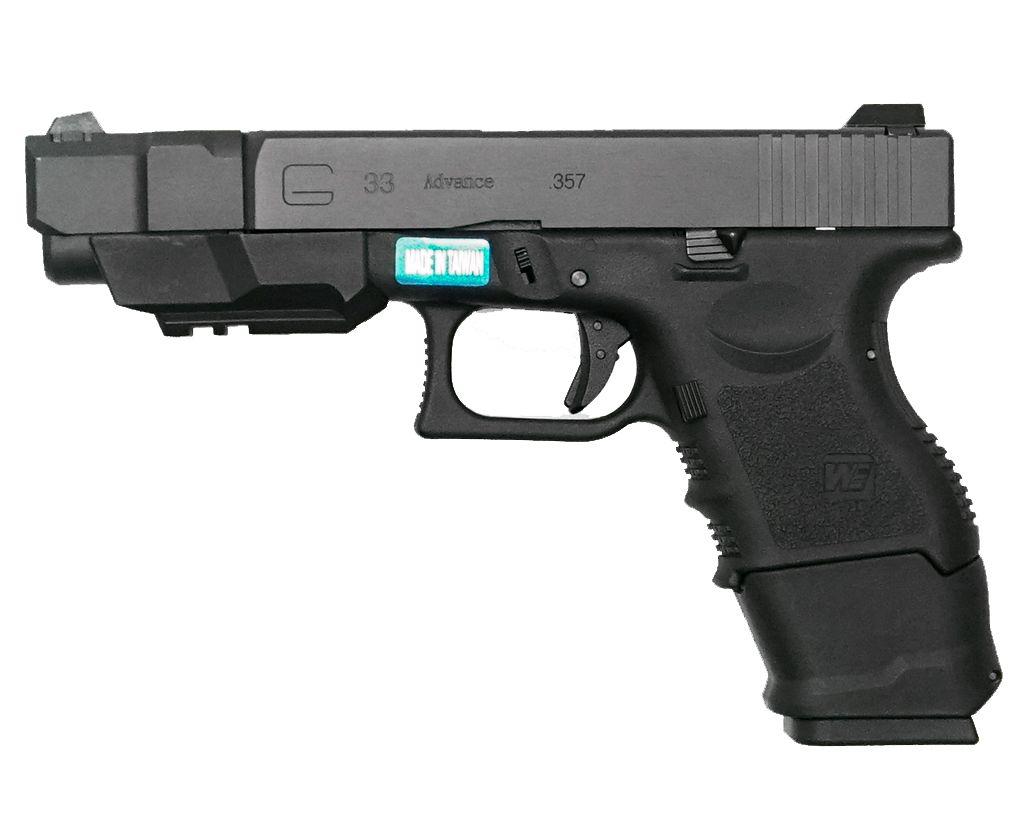 Страйкбольный пистолет WE Glock 33 gen3 (Green gas)