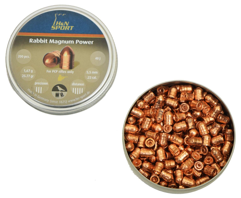 Пульки для пневматики H&N Rabbit Magnum Power 5.5 мм (1.67 г, 200 шт)