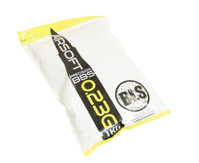 Шарики для страйкбола BLS 0.23 (4000 шт., белые, 1кг. пакет)