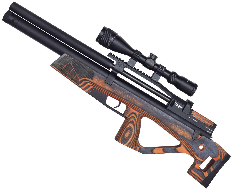 Пневматическая винтовка Jager SPR BullPup 5.5 мм (ламинат, оранжевый, 450 мм)