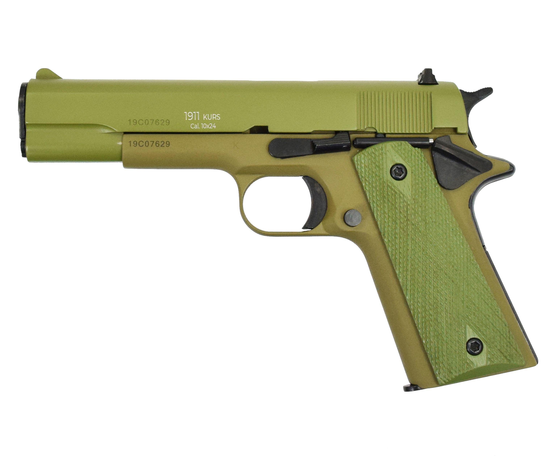 Охолощенный пистолет CLT 1911 CO (Курс-С, Кольт, Олива)