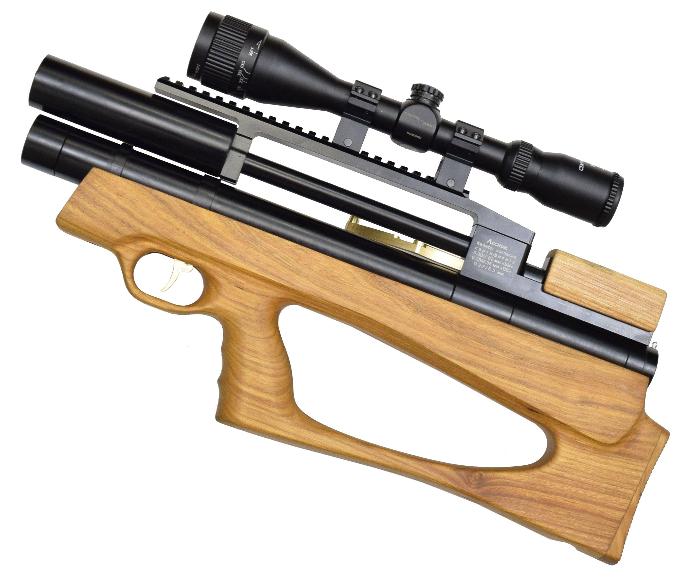 Пневматическая винтовка Дубрава Анчутка Буллпап 5.5 мм V3 (250 мм, Бук)