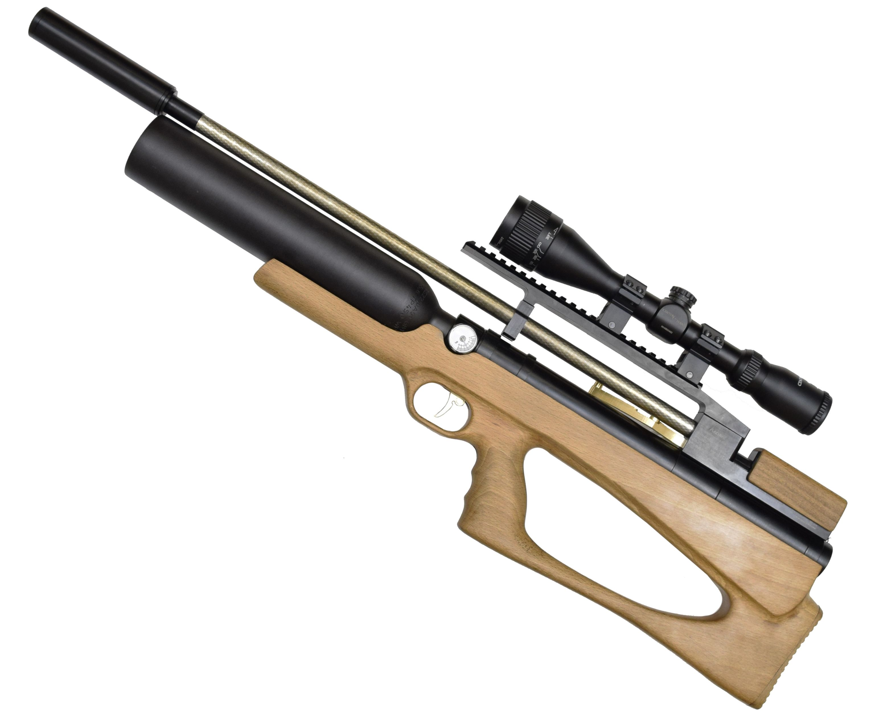 Пневматическая винтовка Дубрава Лесник Буллпап Колба 7.62 мм V3 (580 мм, Бук)