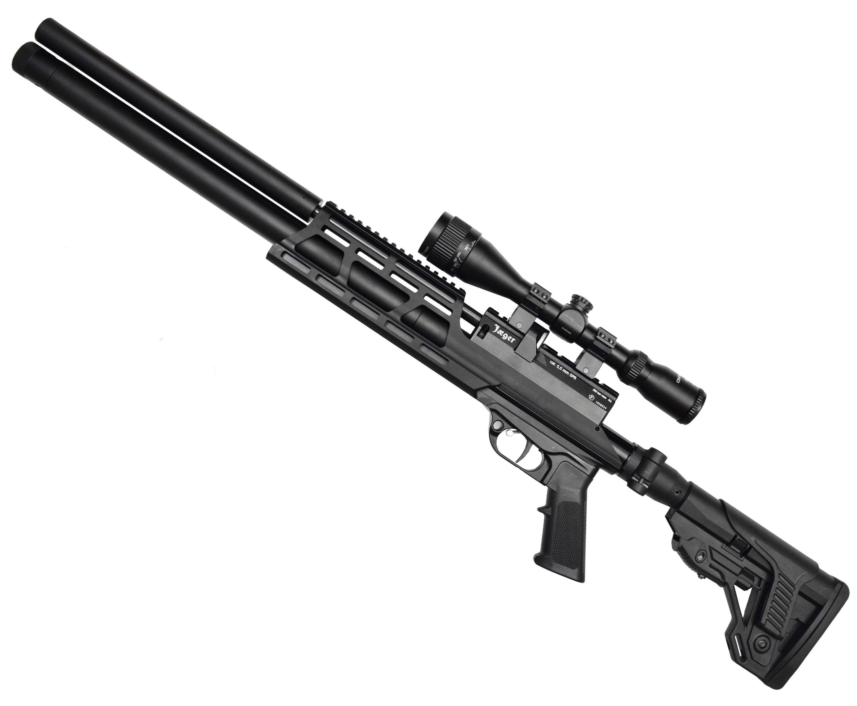 Пневматическая винтовка Jager SPR Карабин (5.5 мм, 450 мм, складной приклад)