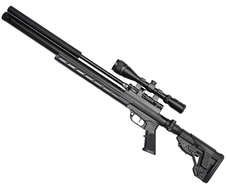 Пневматическая винтовка Jager SPR Карабин (6.35 мм, 470 мм, металлическое ложе, складной приклад)