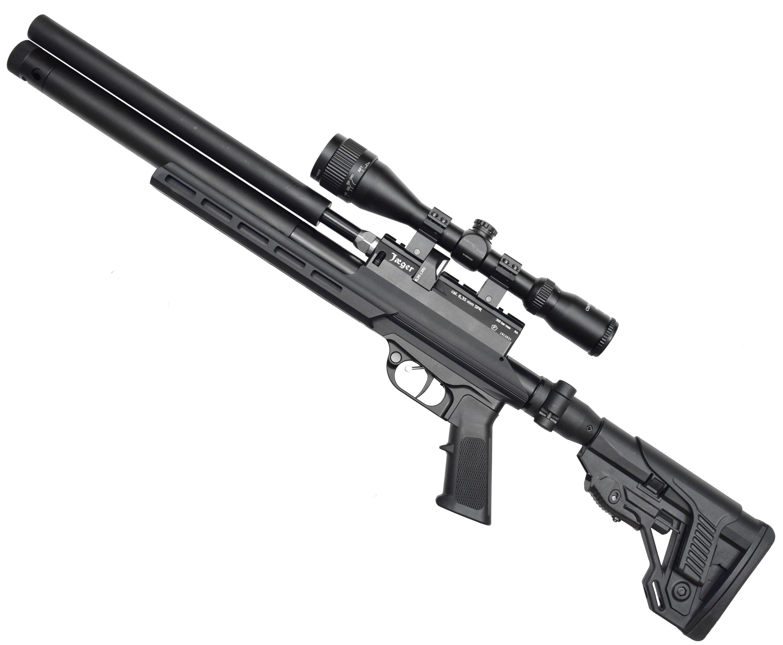 Пневматическая винтовка Jager SPR Карабин (6.35 мм, 292 мм, складной приклад, МСП, алюминиевая)